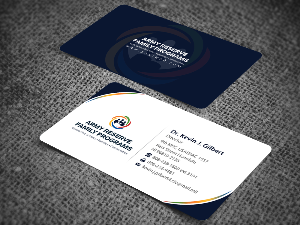Modern upmarket training business card design for 9th mission business card design by pixelfountain for 9th mission support command us army pacific design reheart Images