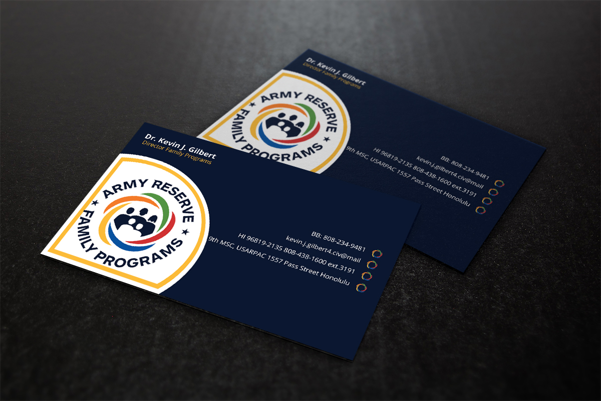 Modern upmarket training business card design for 9th mission business card design by design xeneration for 9th mission support command us army pacific reheart Image collections