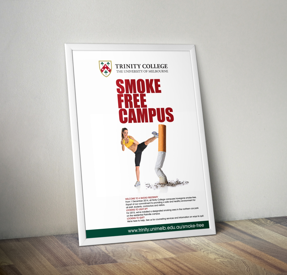 Poster design for free - Poster Design By Cb1318cb1318 For 2015 Trinity College Smoke Free Poster Design 5096595