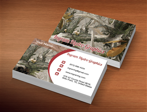 Business Card Design by Lanka Ama - Hydrographic business needs a business card tha...