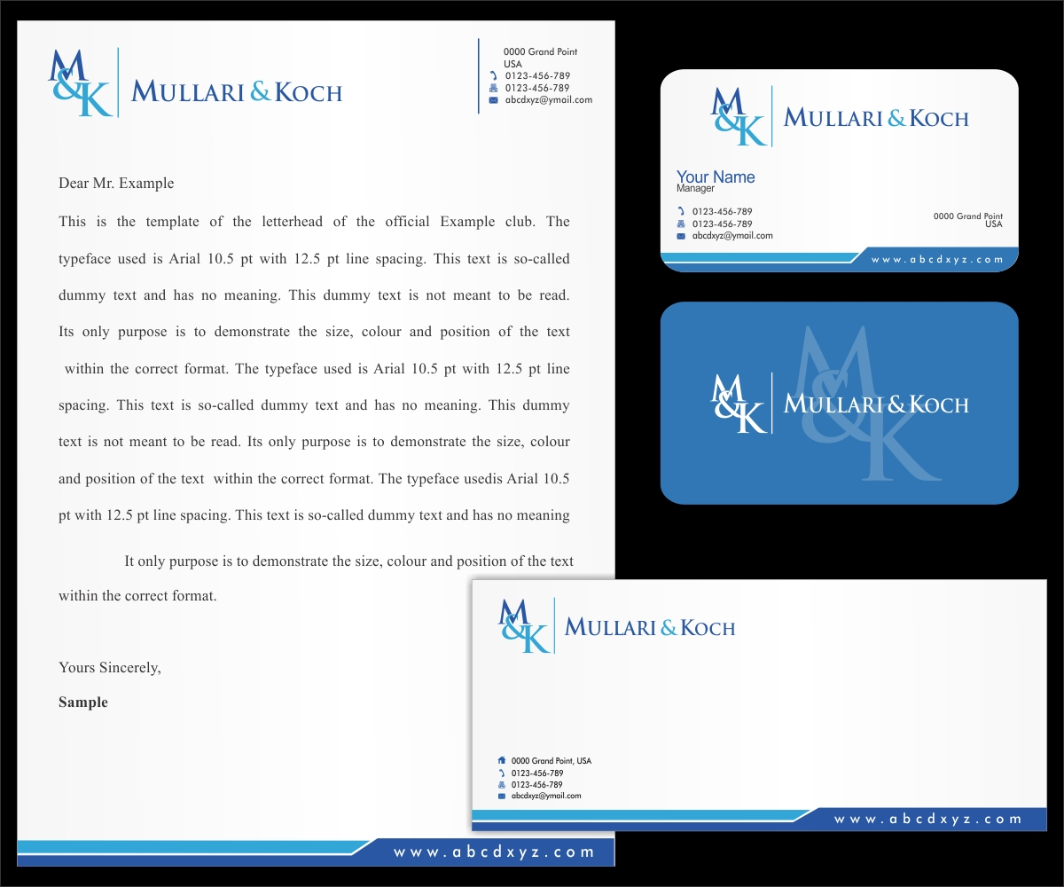 elegant  modern  business letterhead design for a company by logo vision