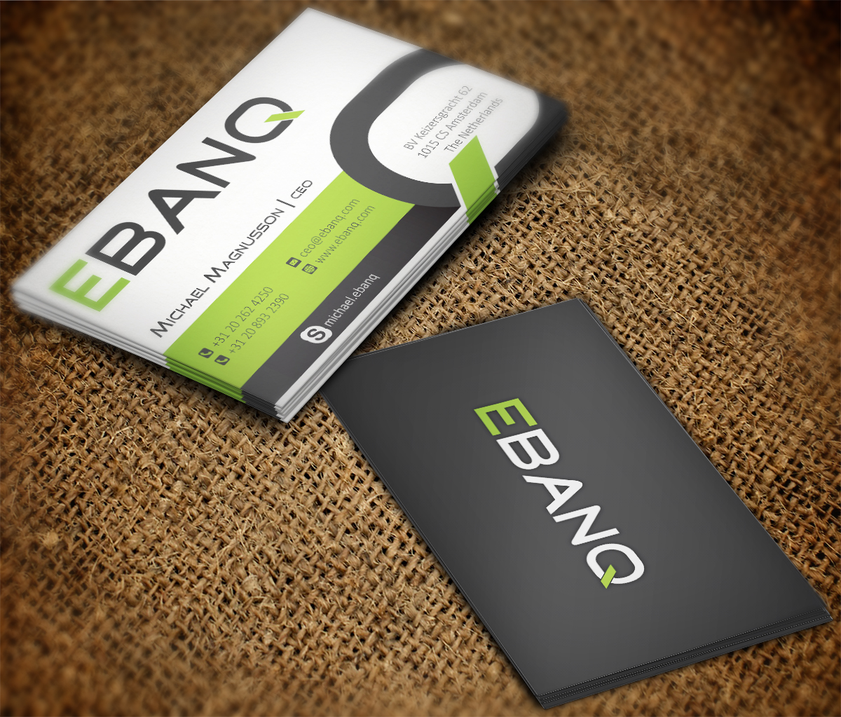 Modern professional financial business card design for ebanq business card design by mt for ebanq fintech sl design 5135579 reheart Image collections