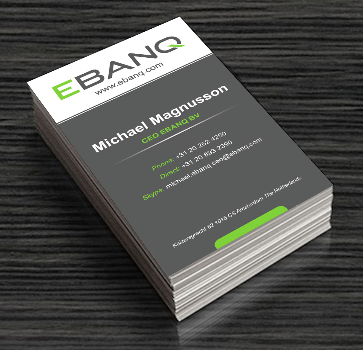 Modern professional financial business card design for ebanq business card design by laurence n corpuz for ebanq fintech sl design 5104239 reheart Image collections