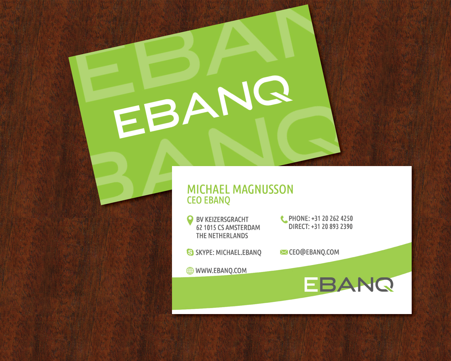 Modern professional financial business card design for ebanq business card design by cherisse for ebanq fintech sl design 5096322 reheart Image collections