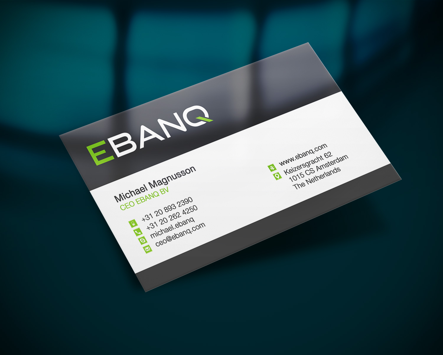 Modern professional financial business card design for ebanq business card design by creation lanka for ebanq fintech sl design 5087342 reheart Image collections