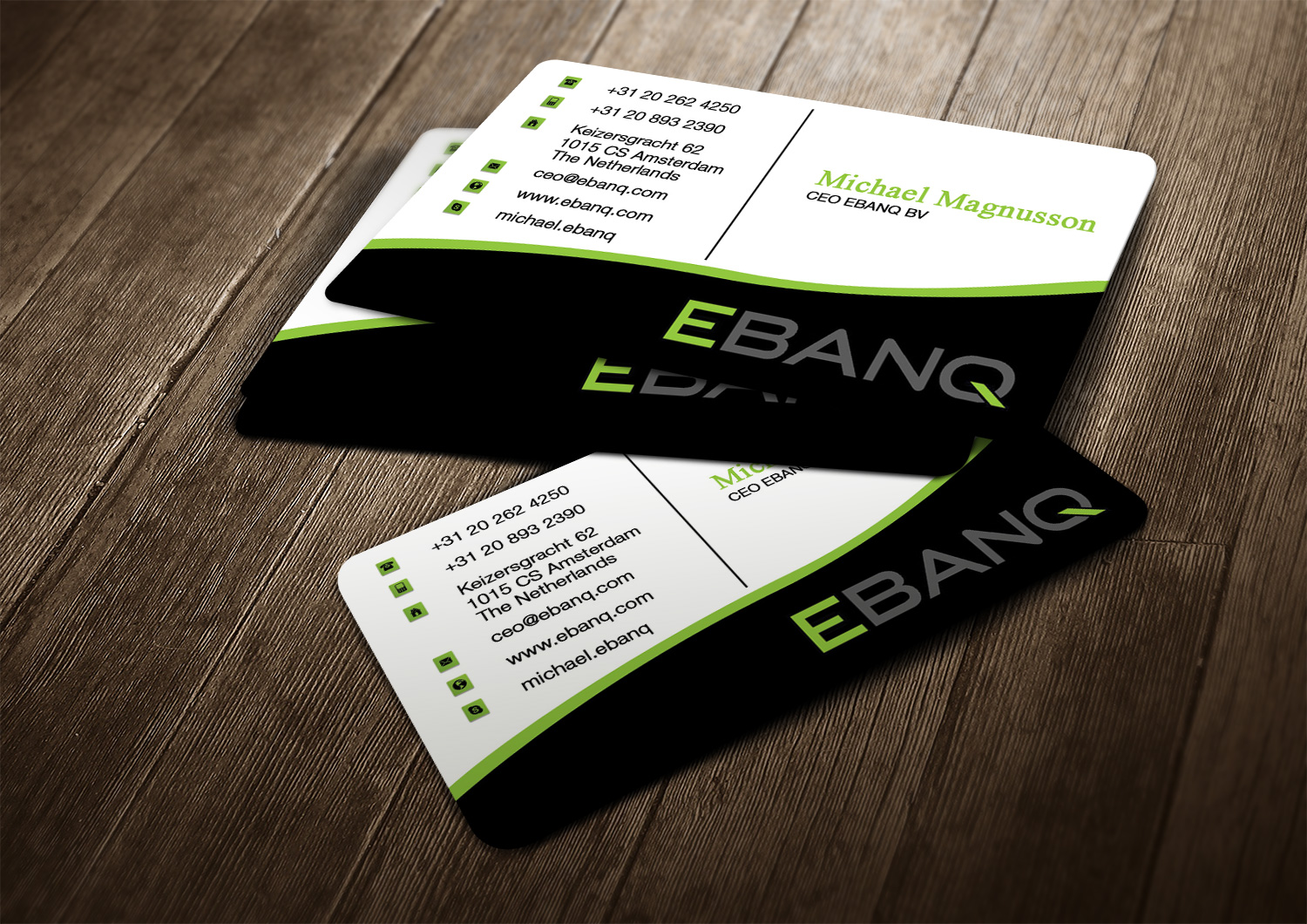 Modern professional financial business card design for ebanq business card design by creation lanka for ebanq fintech sl design 5088203 reheart Image collections
