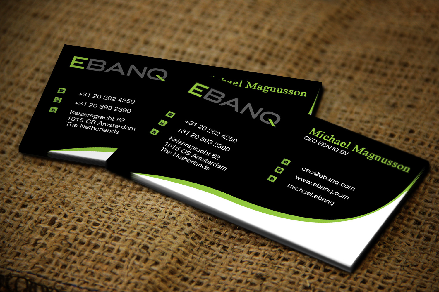 Modern professional financial business card design for ebanq business card design by creation lanka for ebanq fintech sl design 5088214 reheart Image collections
