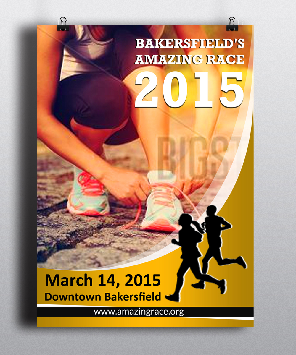 Poster design 2015 - Poster Design By Esolz Technologies For Bakersfield S Amazing Race 2015 Poster Design 5086129