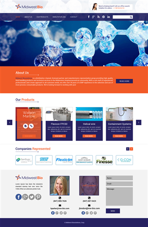Web Design by Advent Innovative - Manufacturer's Representative Group needs a cle ...