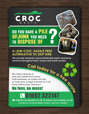 Flyer Design by ESolz Technologies - Croc Waste Ltd