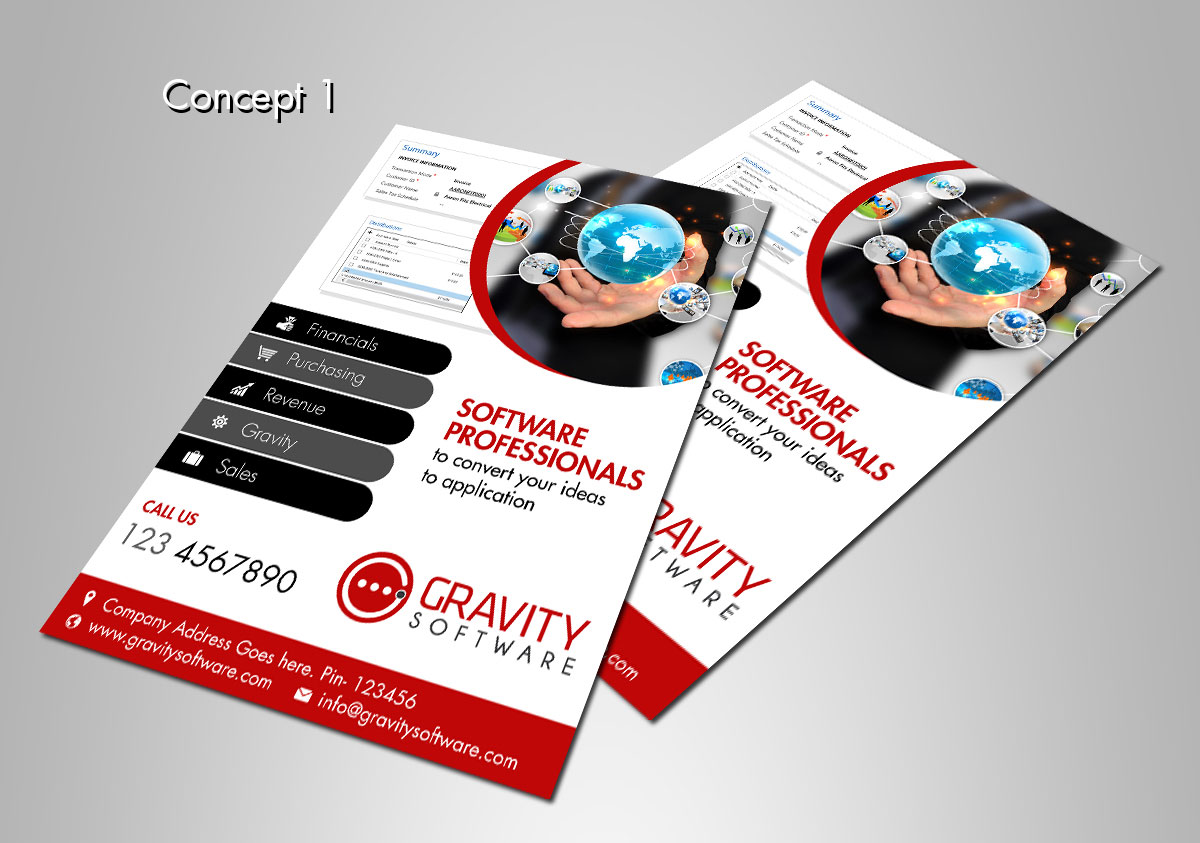 Modern upmarket small business brochure design for a for Software for designing brochures