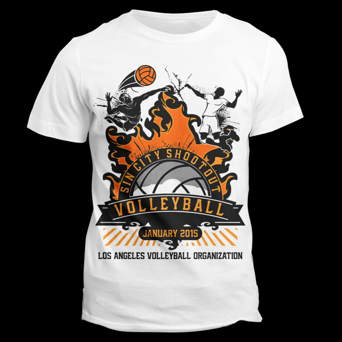 Modern Bold Festival T Shirt Design For Los Angeles Volleyball Organization Inc In United States 5132368