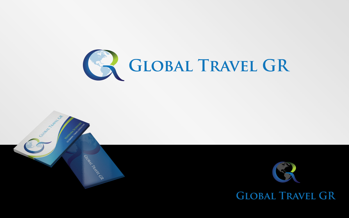 Playful elegant business card design for global travel gr for Global design firm
