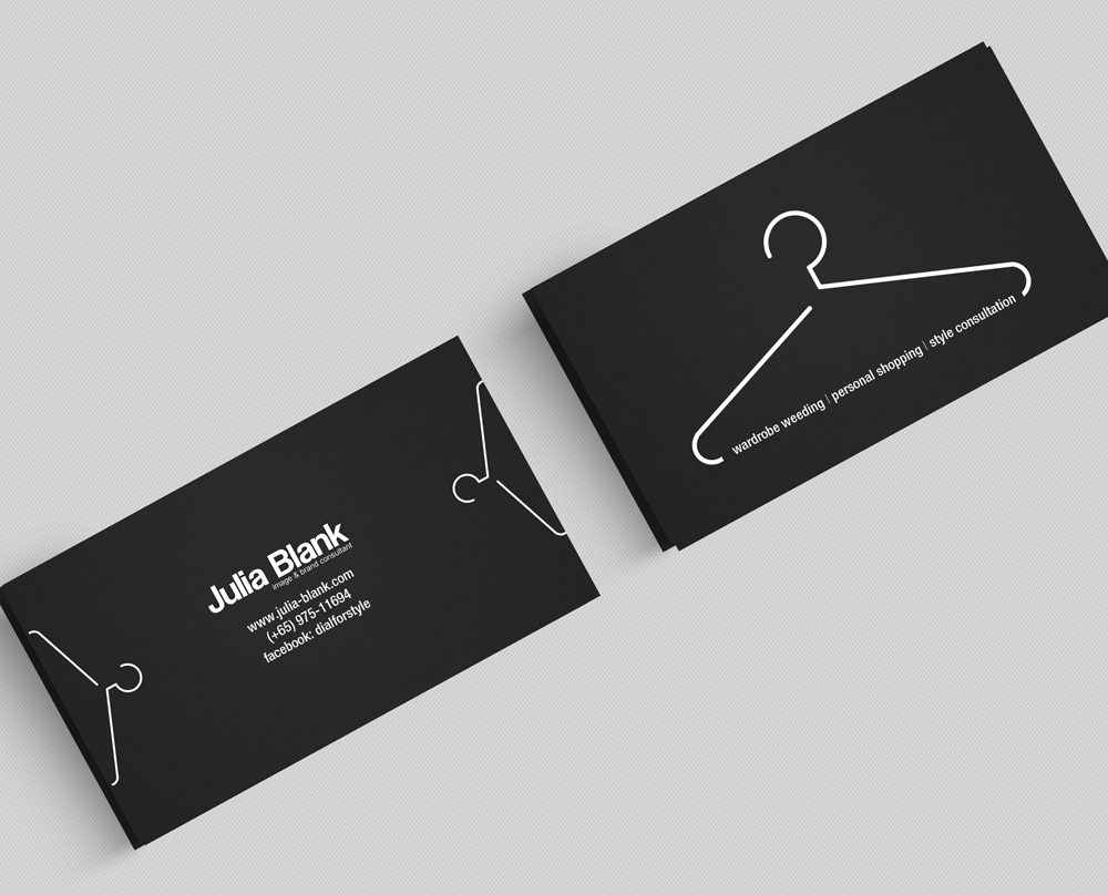elegant playful fashion name card design for a company