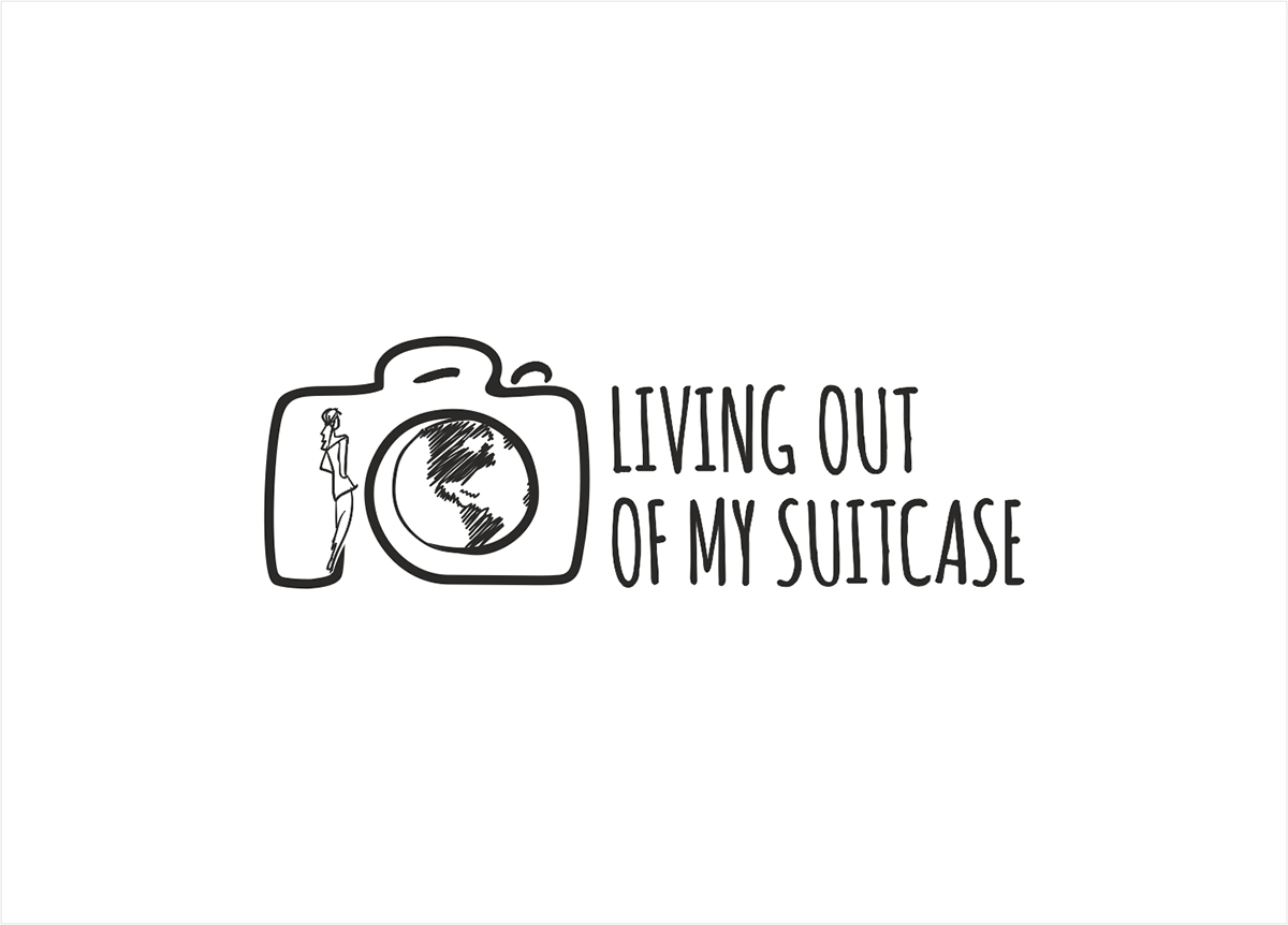 Living out of my suitcase Logo by Elshan Gurbanov