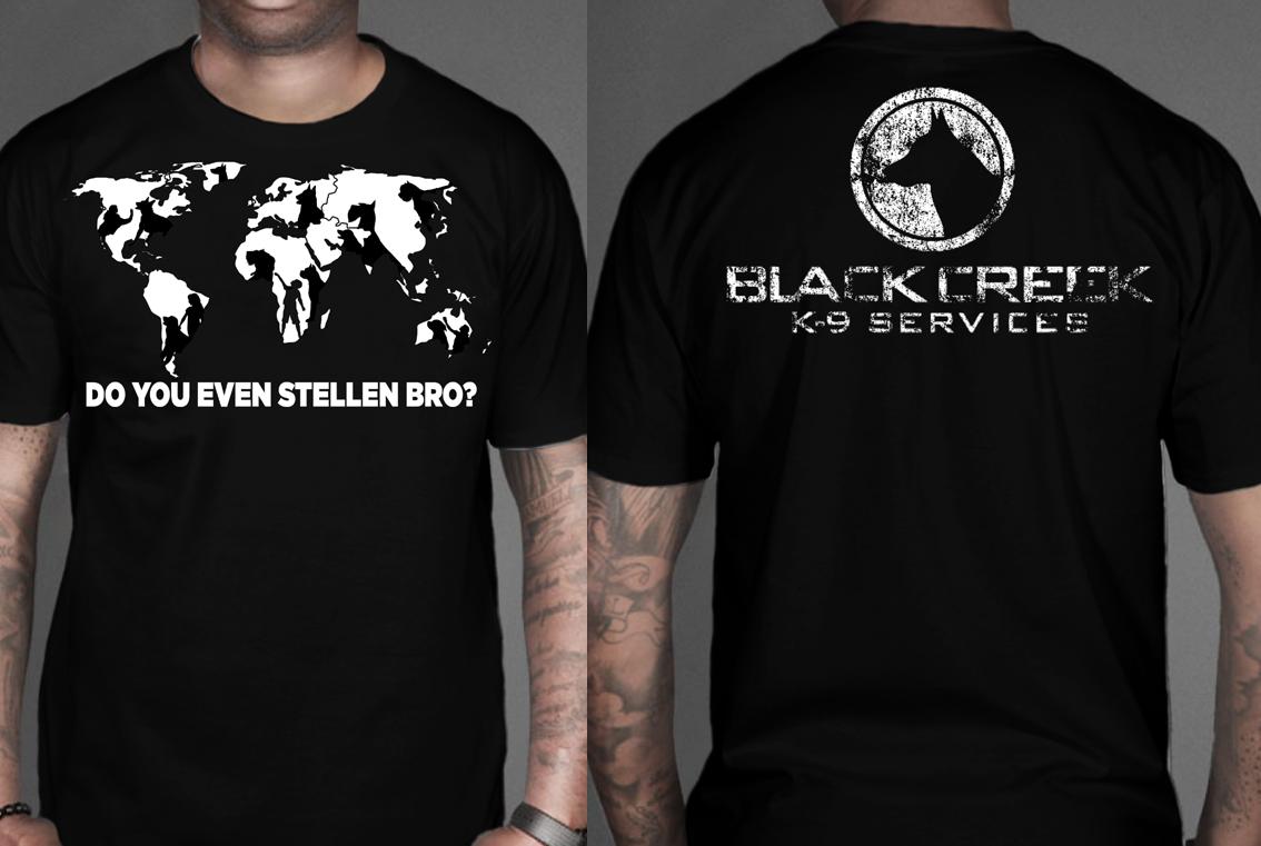 K9 T Shirt Designs | Bold Masculine It Company T Shirt Design For Black Creek K 9