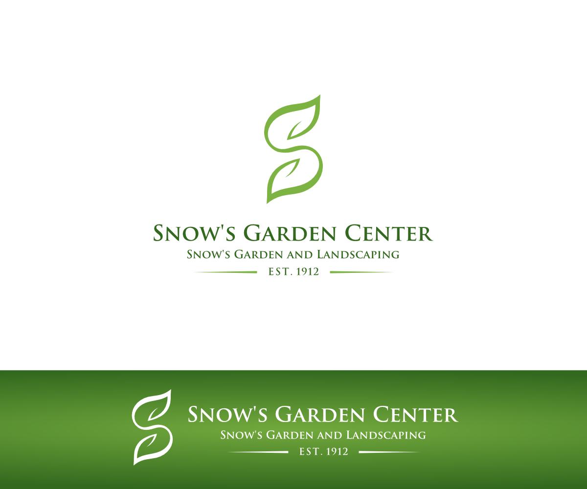 bold modern landscape gardening logo design for snow 39 s