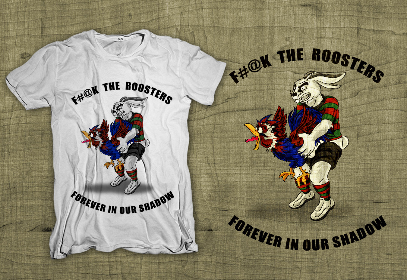 Design t shirt rugby - Illustration Design By Dsgrapiko For Fyt Clothing T Shirt Design For Rivalry Nrl Rugby League