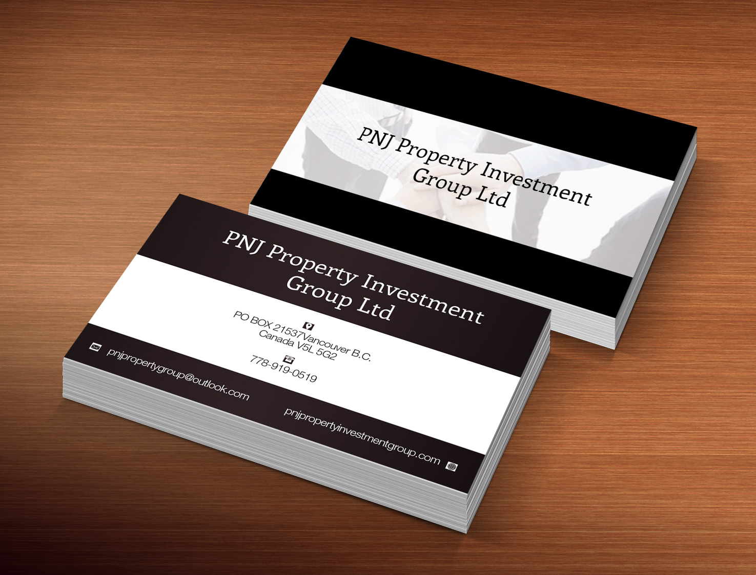 Business Card Design For Pnj Property Investment Group Ltd By