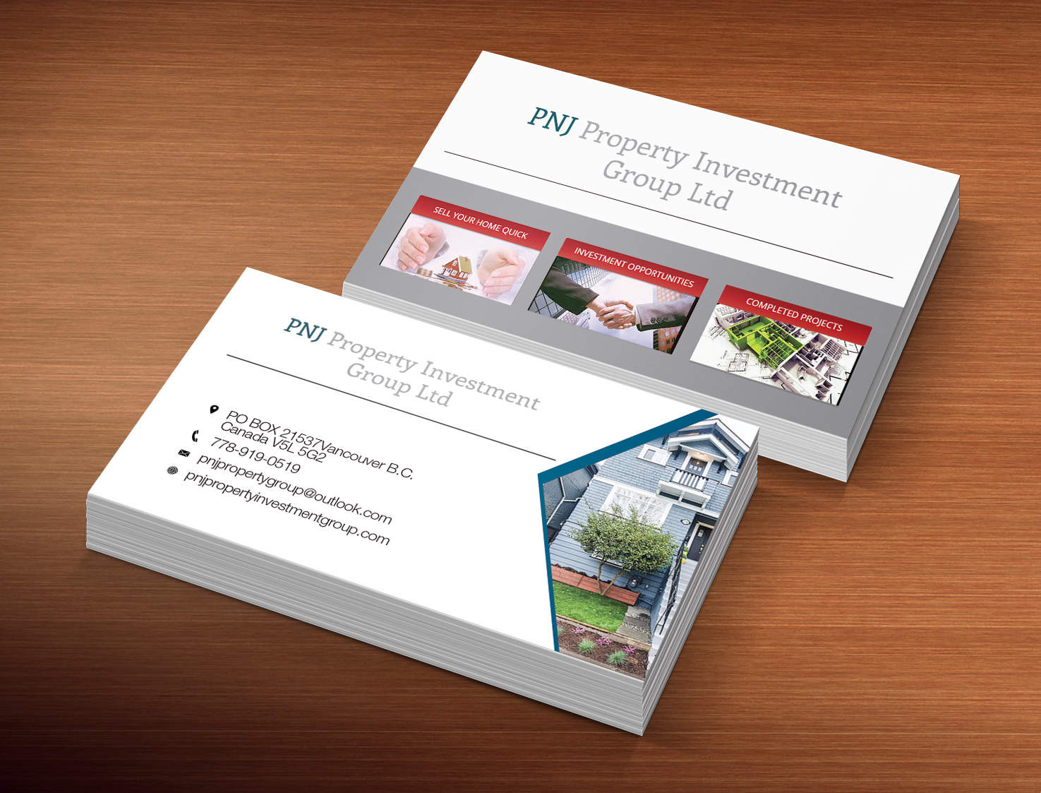 Investment business card design for pnj property investment group business card design by creation lanka for pnj property investment group ltd design colourmoves Choice Image