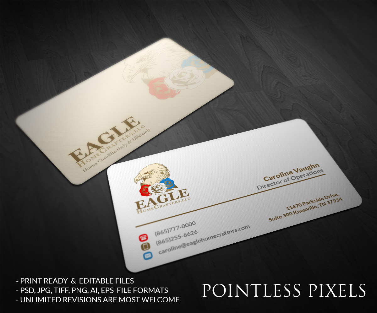 Upmarket serious residential business card design for a company by business card design by pointless pixels india for this project design 5143018 reheart Gallery