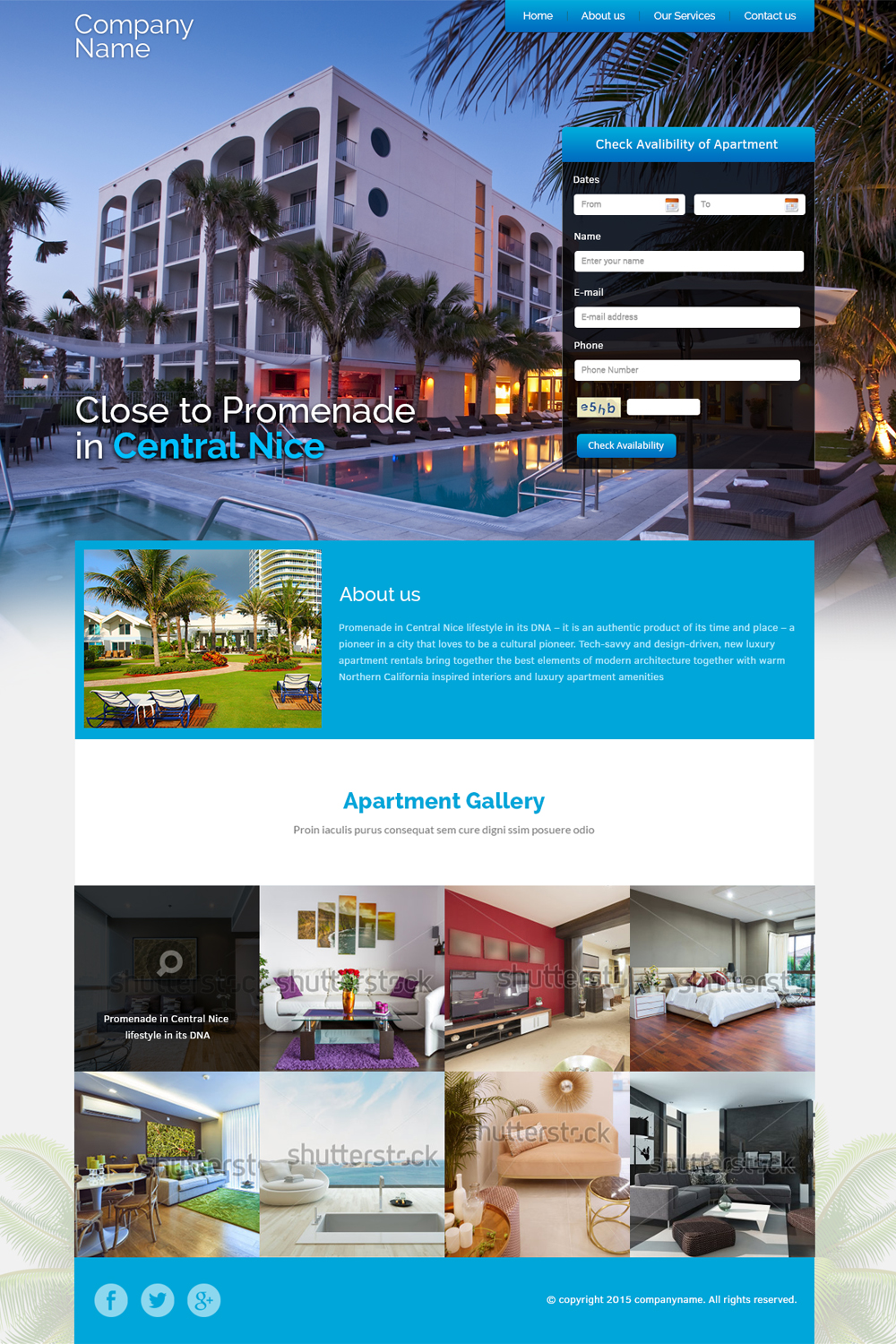 Apartment web design for a company by esolbiz design for Apartment web design