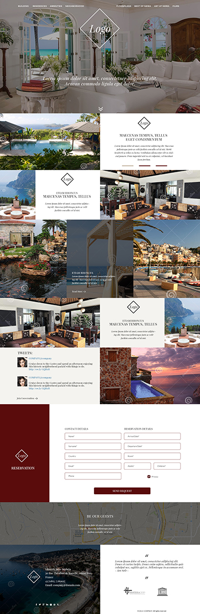 Apartment web design for a company by violeta pironkova for Apartment web design