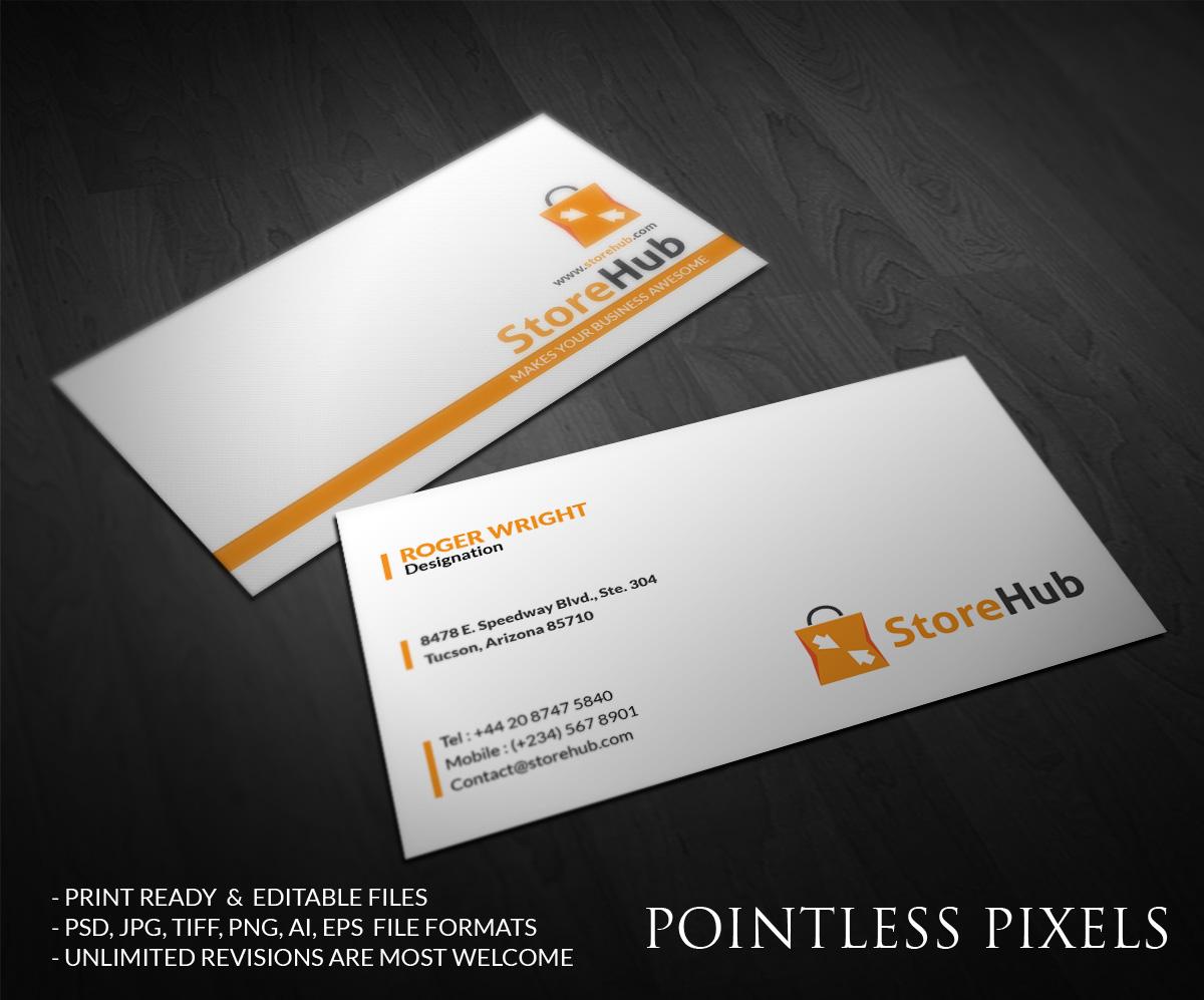 Modern elegant business card design for storehub sdn bhd by business card design by pointless pixels india for storehub sdn bhd design 5189510 colourmoves