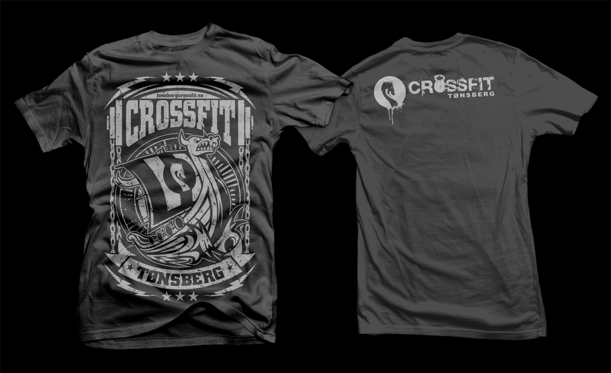 Personable masculine t shirt design design for crossfit t for Newspaper t shirt designs