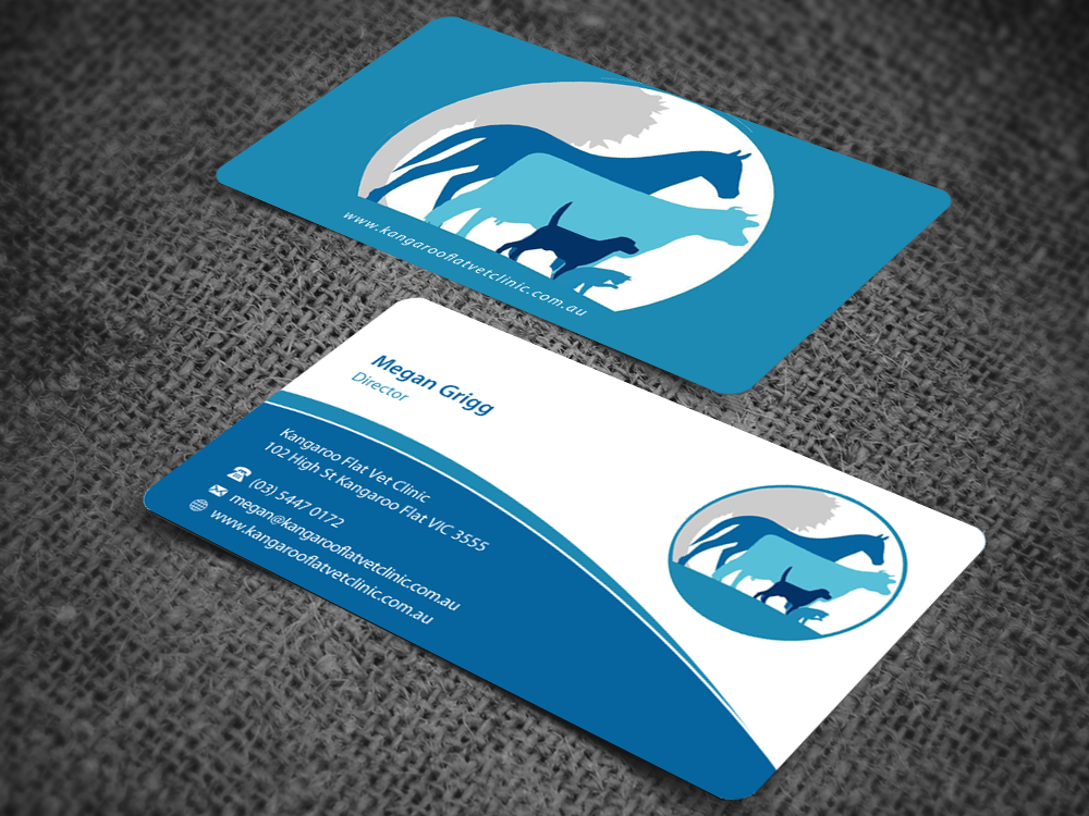Bold modern veterinary business card design for a company by business card design by pixelfountain for this project design 5146618 colourmoves