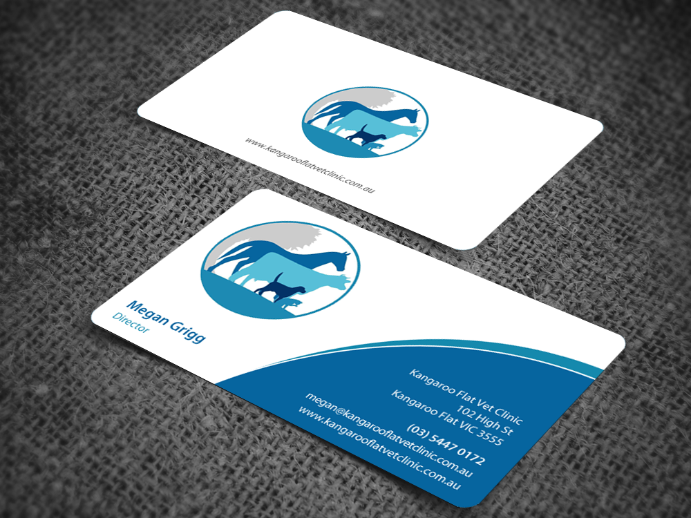 Bold, Modern, Veterinary Business Card Design for a Company by ...