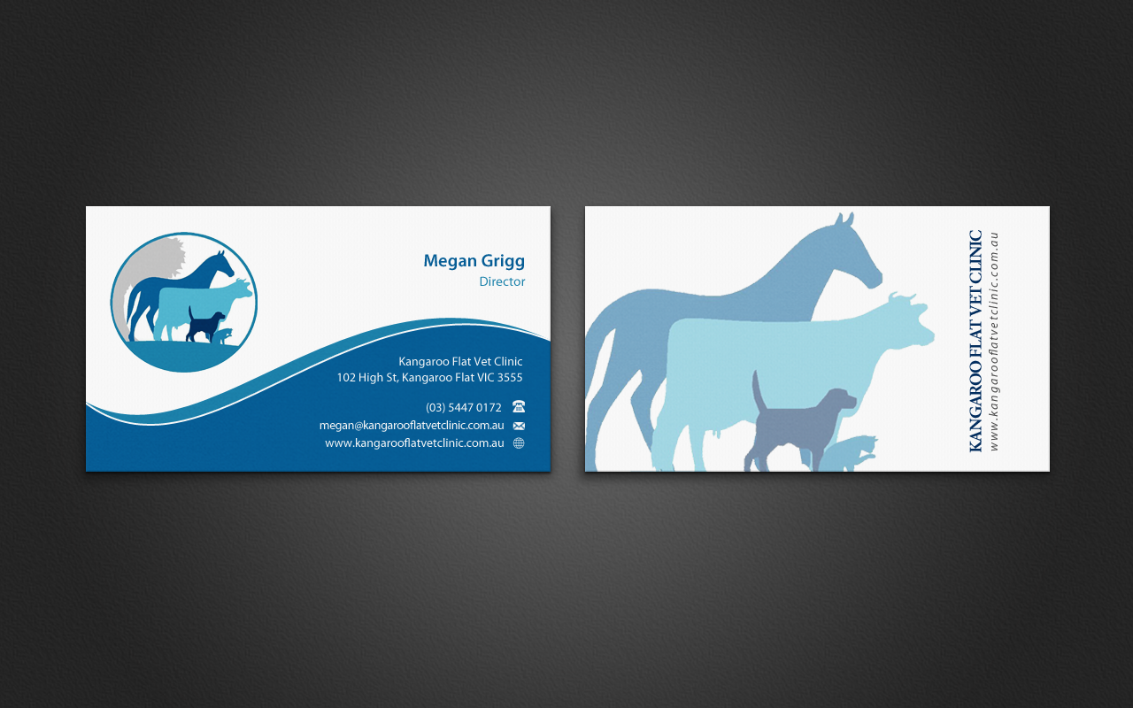 Bold modern veterinary business card design for a company by business card design by pixelfountain for this project design 5147441 reheart Image collections
