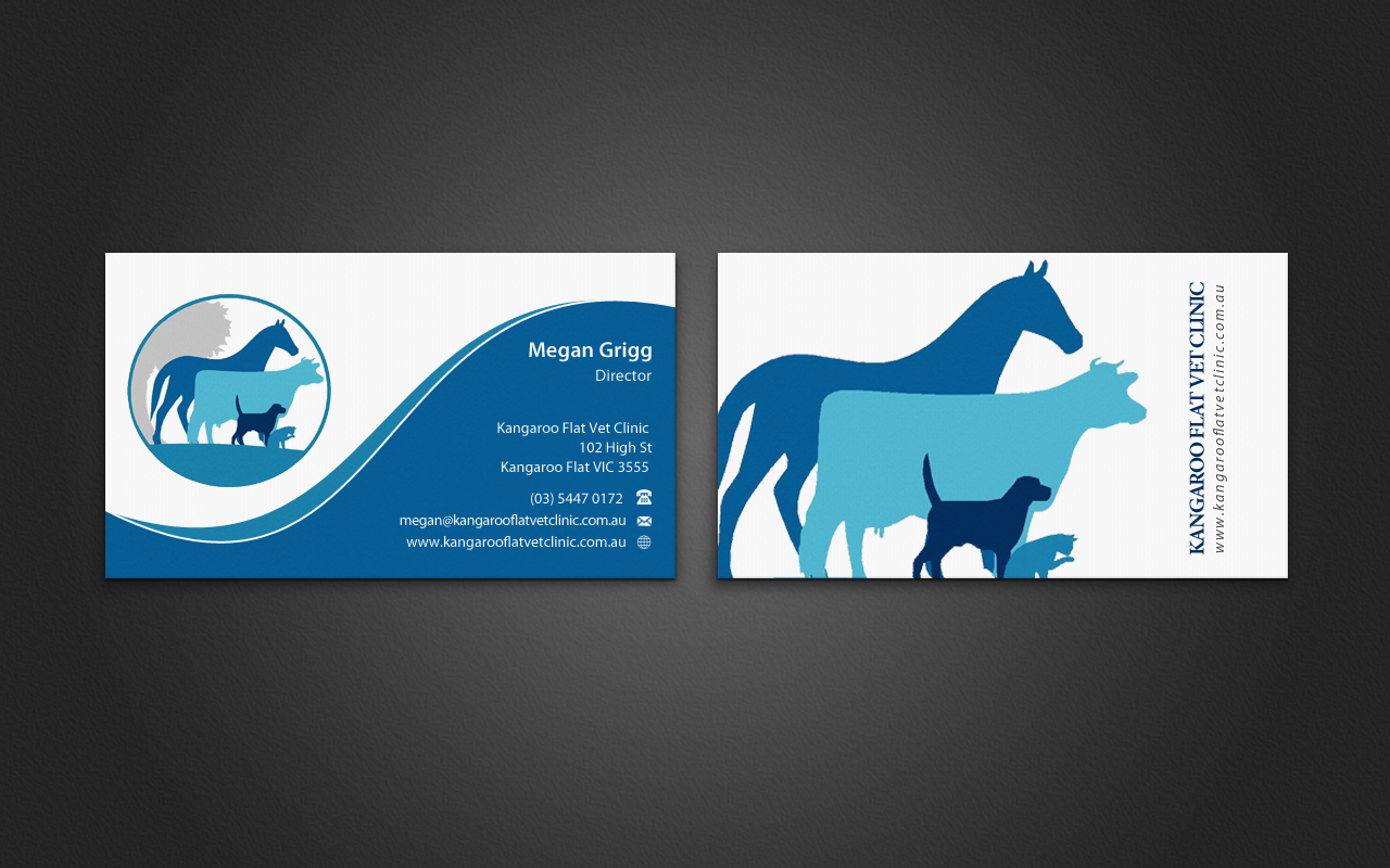 Bold Modern Veterinary Business Card Design For A Company By