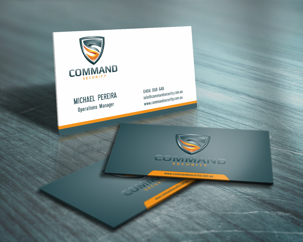 Bold, Modern, Security Business Card Design for a Company by ...