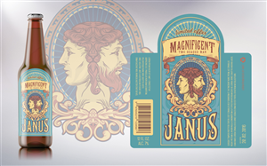 Illustration Design by merci - seasonal beer label - side show/tarot/tattoo look