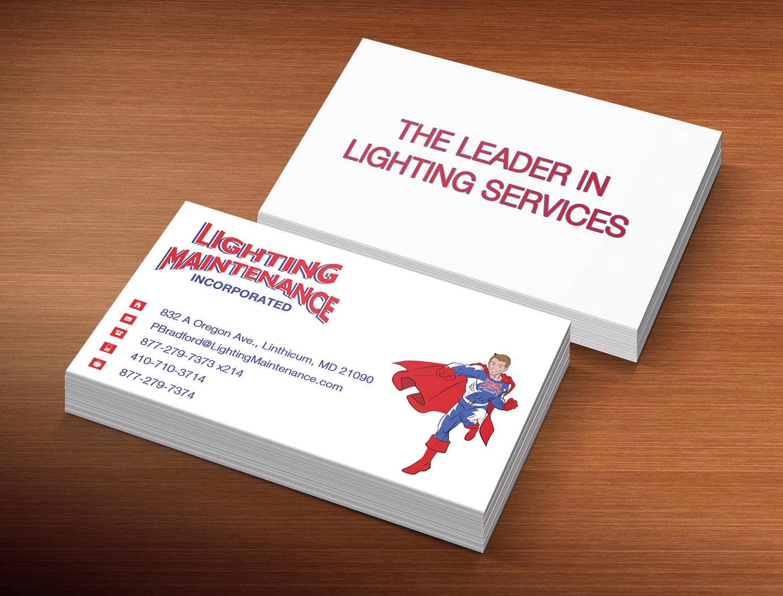 Modern professional business business card design for lighting business card design by creation lanka for lighting maintenance inc design 5163607 colourmoves Choice Image