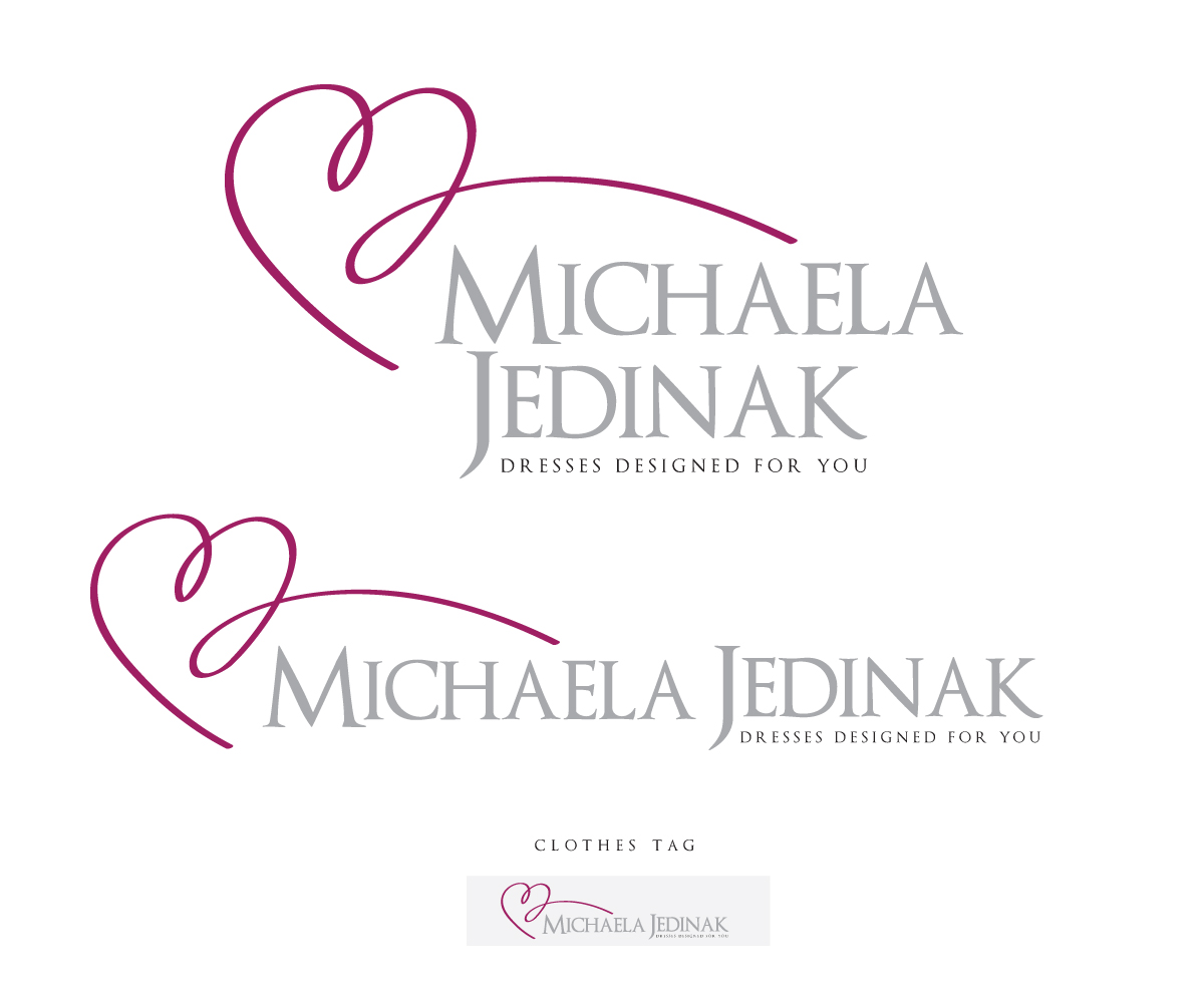 Elegant Upmarket Fashion Logo Design For Michaela Jedinak By Tom Watson Design 1467910