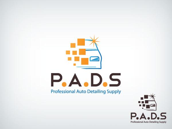 Automotive Logo Design for P A D S: Professional Auto Detailing