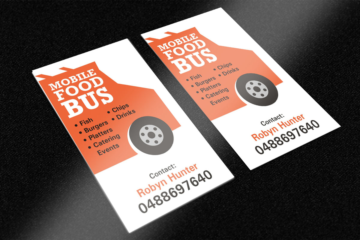 Bold modern catering business card design for a company by poonam business card design by poonam gupta for this project design 5170400 reheart Choice Image