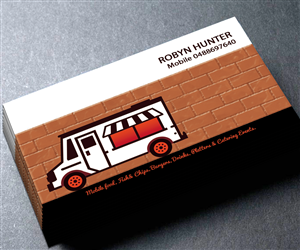 Bold Modern Catering Business Card Design For A Company By