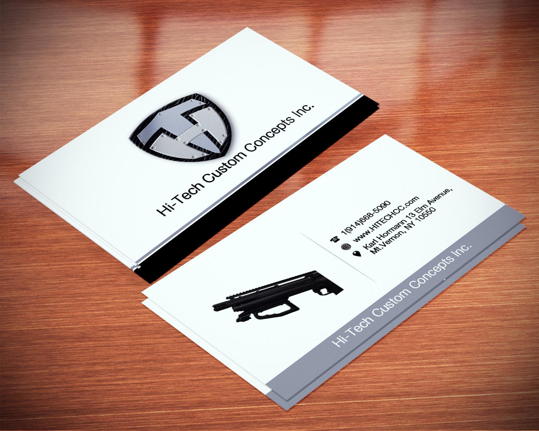 Business card design for hi tech custom concepts inc by creation business card design by creation lanka for hi tech custom concepts inc design colourmoves Choice Image