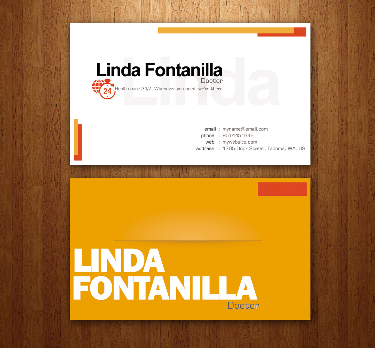 Name Card Design For Linda Fontanilla By Sigitarrin