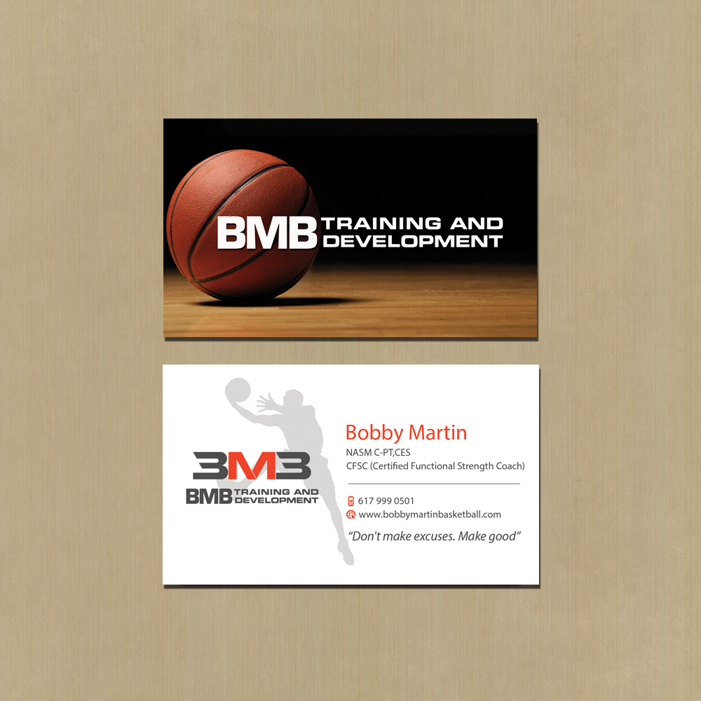 Business Card Design For Bmb Training And Development Llc By