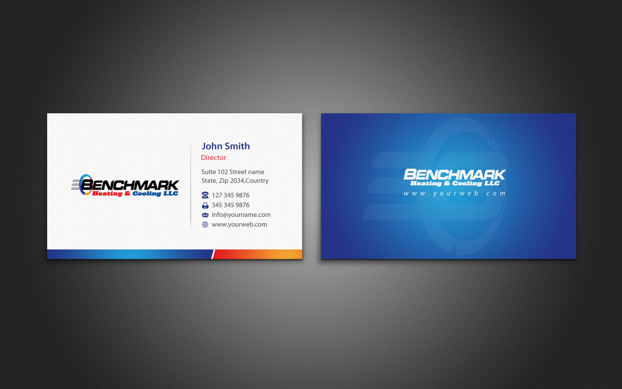 Air conditioning business cards arts arts business card design for a company by pixelfountain reheart
