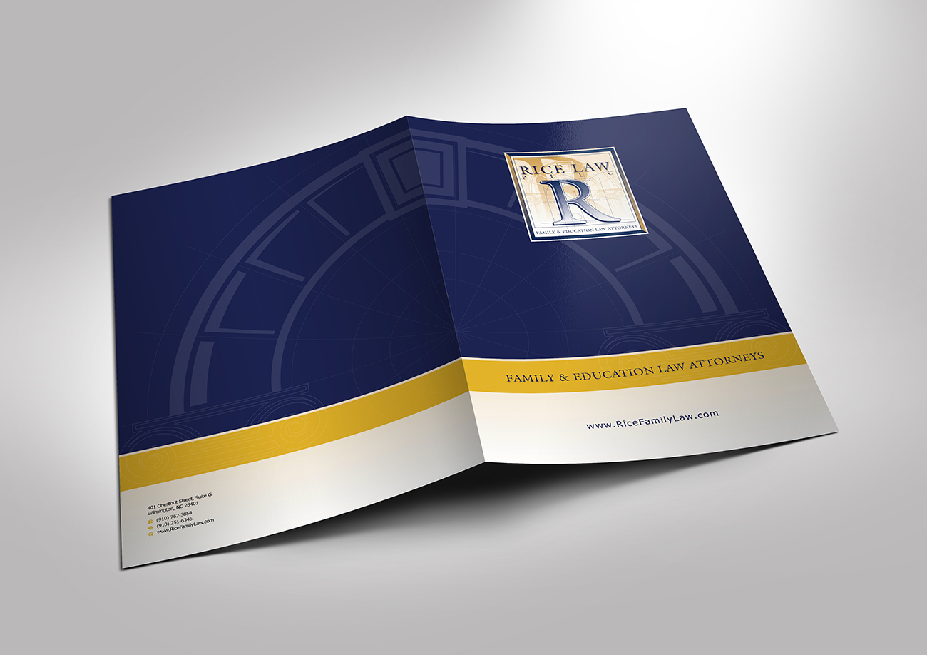 Professional Conservative Law Firm Brochure Design For