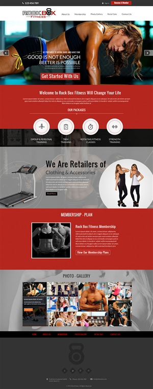 Rockbox Fitness | 52 Web Designs for a business in United