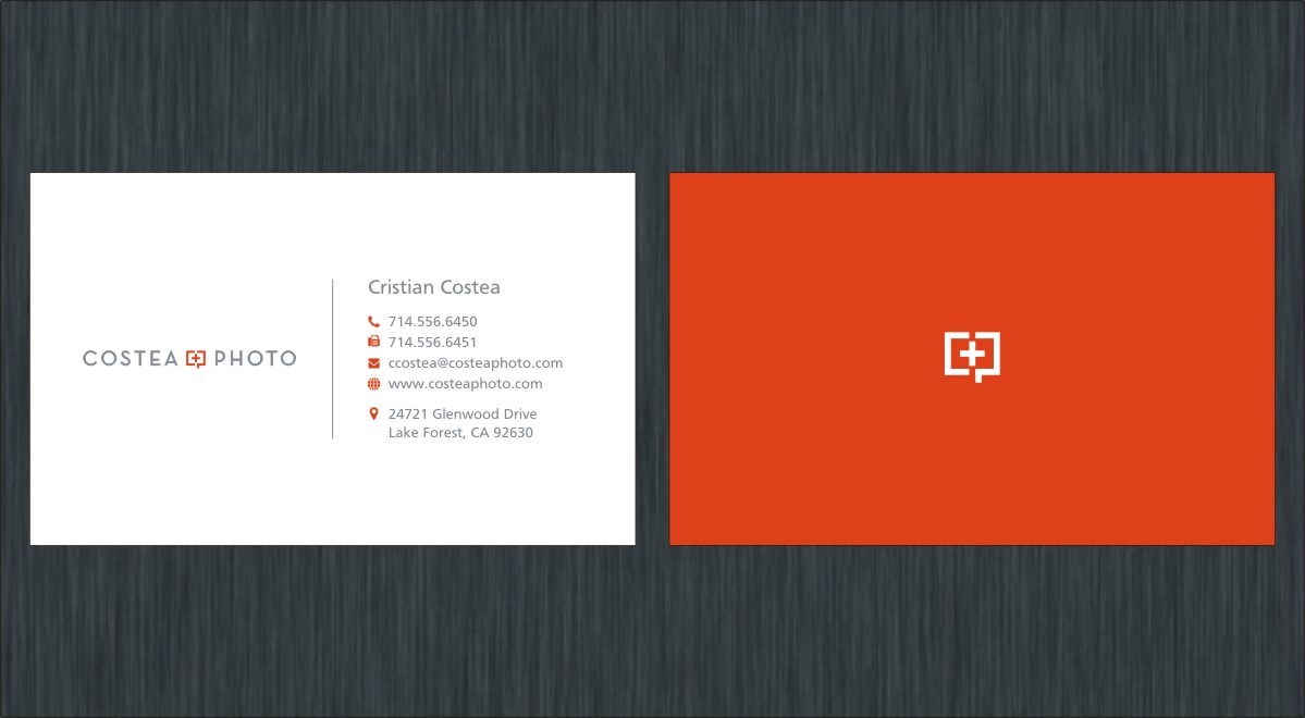 Conservative, Upmarket Business Card Design for COSTEA PHOTOGRAPHY ...