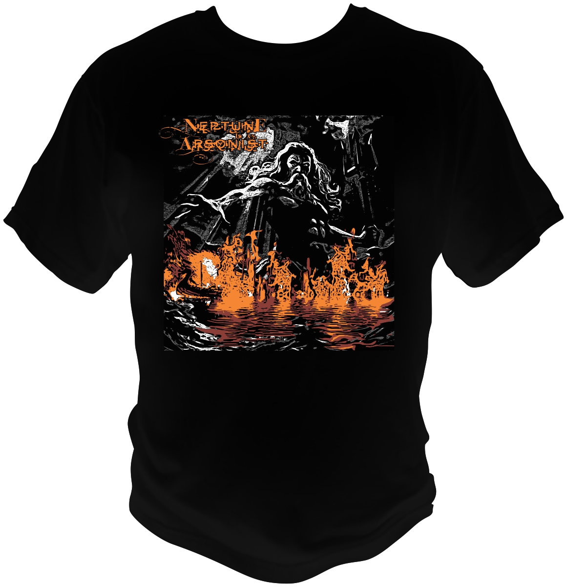 T shirt design for neptune is an arsonist by bacujkov for Dc t shirt design