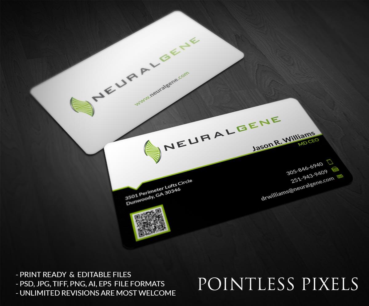 Elegant Playful Biotechnology Business Card Design For A Company