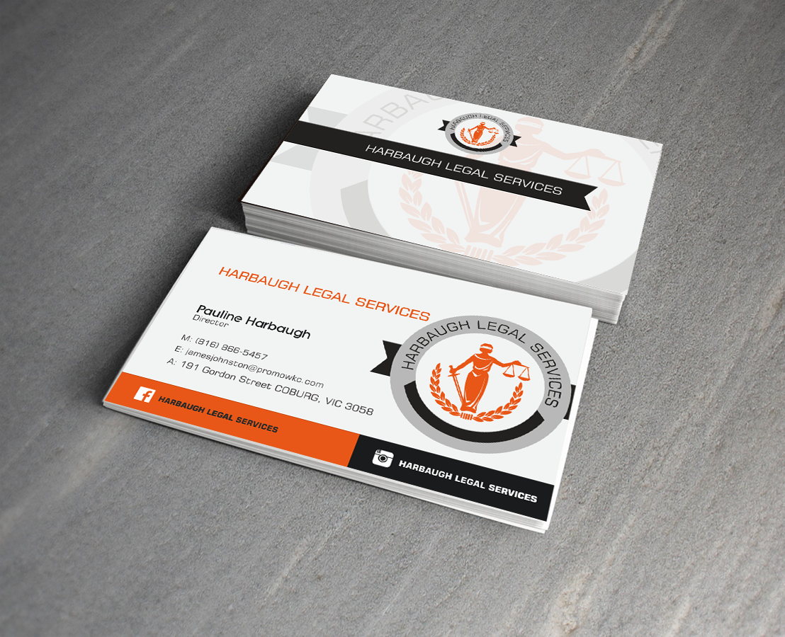 Professional, Serious Business Card Design for Pauline Harbaugh by ...